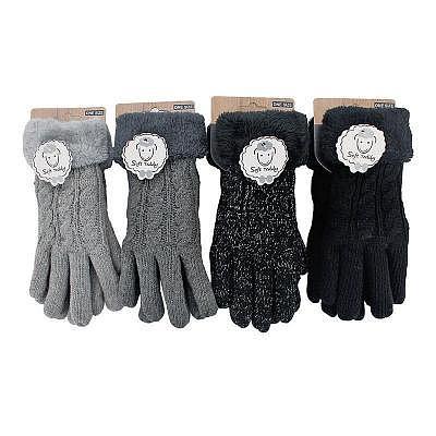 Finger Damen-Handschuhe 'Classic Teddy'