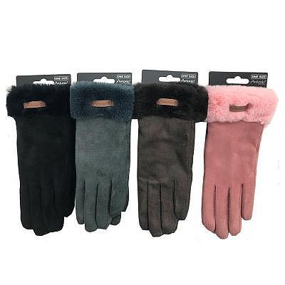 Finger Damen-Handschuhe 'Velours Teddy'