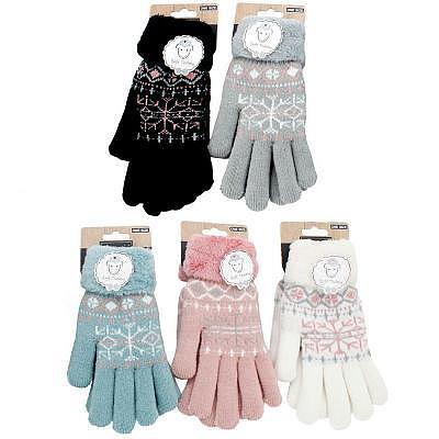 'Snowflake Teddy'     Finger Damen-Handschuhe
